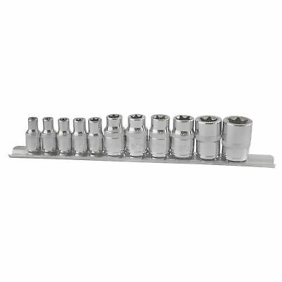 "Torx / Star Female Sockets 10pc Set 1/4"" and 3/8"" Drive E Sockets E4 - E18"