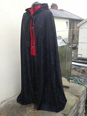 colours avail c39cv princess fantasty pointy hooded cloak red crushed velvet