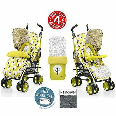 New Cosatto Treet Chacha Stroller Baby Buggy Pushchair Footmuff Raincover