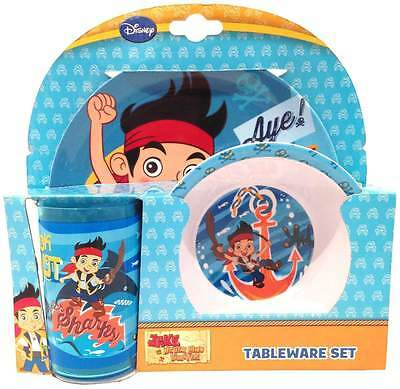 "Jake & The NeverLand Pirates ""UnderWater Adventure"" Melamine Tableware set of 3"