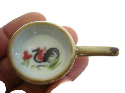 Dollhouse Miniatures Cooking Pan Cookware Painted Rooster