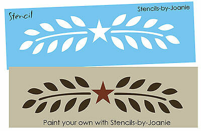 Joanie Small Stencil Simple Leaf Vine Border Floral Decor Home Art Craft Signs