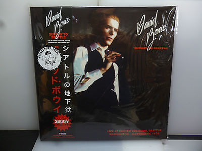 David Bowie-Subway To Seattle. Usa 1976-Gatefold 2Lp Clear Vinyl-New.sealed