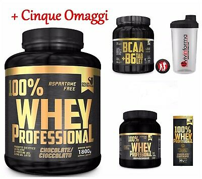 100% whey professional Gold's Nutrition Kg 2,2 - iso proteine magre siero latte