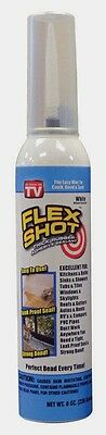 8oz FLEX SHOT JUMBO!! White Rubber Sealant Caulk Stop Leaks FSH8W by FlexSeal TV