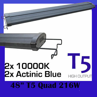 "T5 Aquarium Fish Tank Overhead Light Hood Four tube System 60"" 150cm - 170"