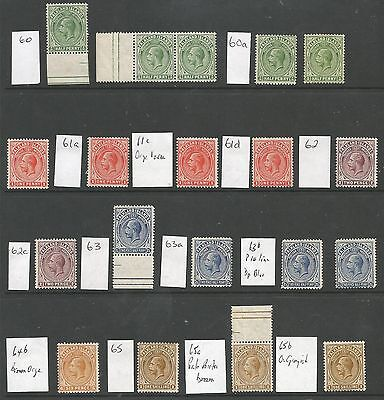 Falkland Is Gv 1912-20 Between Sg60&65 Mounted Mint Selection Of 19 Cat £457