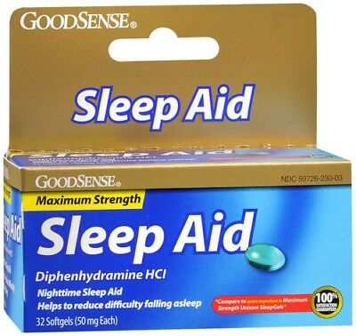 Nighttime Sleep Aid Diphenhydramine Softgels 32ct (Compare to Unisom SleepGels