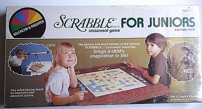 Vintage 1982  Scrabble For Juniors Crossword Board Game Edition 5  NEW/SEALED