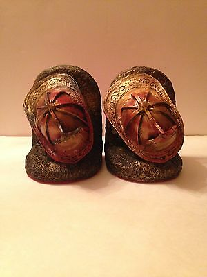 Firefighter's Bookends Fire Fighter Hat **Great Sentiment** Memorial  **