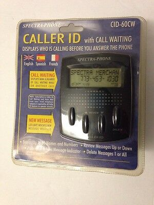 Spectra-Phone Caller ID With Call Waiting CID-60CW English Spanish French