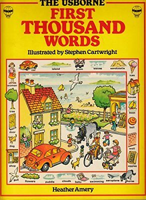 English (Usborne First 1000 Words), Amery, Heather Paperback Book The Cheap Fast