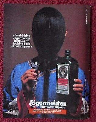 1982 Print Ad JAGERMEISTER Bittersweet Liqueur ~ Looking Back on Quite a Year