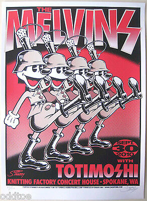 THE MELVINS & TOTIMOSHI - ORIGINAL Concert Poster S/N by Greg Stainboy Reinel