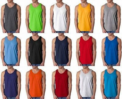 Gildan 2200  Plain T-Shirts Tank Top Muscle Gym Sleeveless Tee Shirt 100% cotton