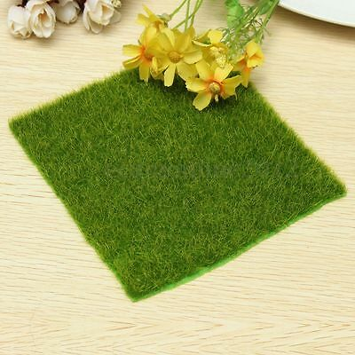 15cm Square Artificial Turf Grass Lawn Grass Plants Miniature Landscape Decor