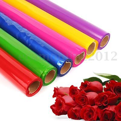 50m X0.8m Colored Clear Cellophane Wrap Film Paper Roll- Florist Flower Gift Box