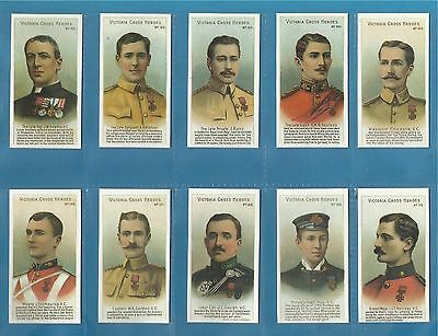 Taddy Cigarette Cards - VICTORIA CROSS HEROES (101-125)  Full mint condition set