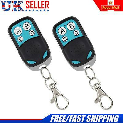 2x Electric Gate Remote Control Fob Cloning Key for Car Garage Door 433mhz UK