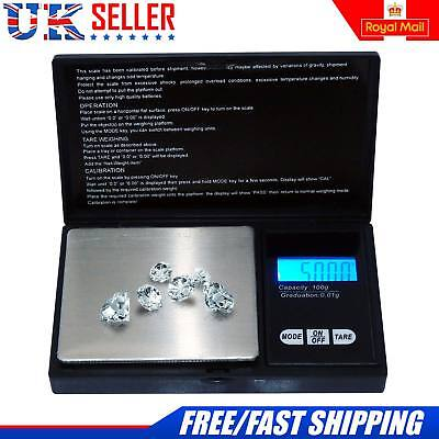 Electronic Pocket Mini Digital Jewellery Weighing Scale 0.01g Weight 100 Gram UK