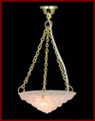 1:12 Scale Working Dolls House Miniature Ceiling Light With An Opaque Shade 5044