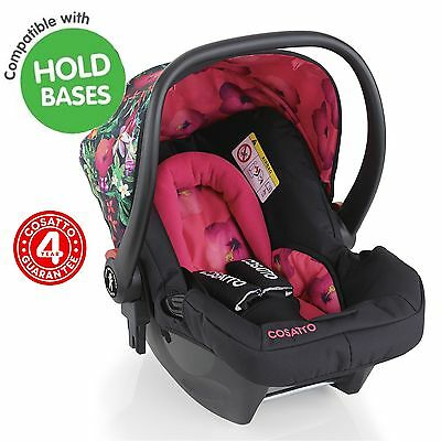 New Cosatto Tropico Hold Group 0 Car Seat Infant Carrier Baby Girls Carseat