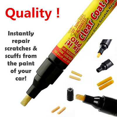 2Pcs Clear Car Paint Scratch Remover Fix It Pro Painting Repair Pen Tool Applica