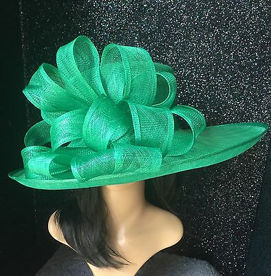 EMERALD GREEN WEDDING HAT OCCASION FORMAL MOTHER OF The Bride