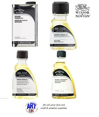 Winsor & Newton Oil Colour OILS, Cold Pressed Linseed Stand Refined Drying Poppy