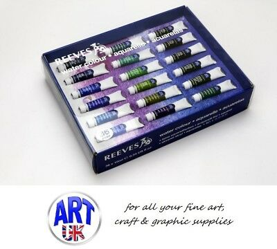 Reeves Artists Water Colour Box Pack of 36 x 10ml Paint Tubes painting gift set