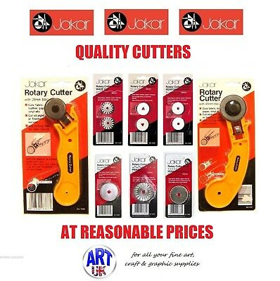 Jakar Rotary Cutter Quilters Sewing Fabric Leather Craft Vinyl Paper 45mm & 28mm