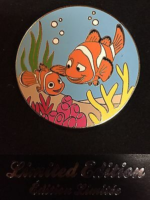 Disney Store Pin Finding Nemo & Father Marlin Pixar Uk Europe Exclusive Le 500