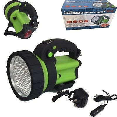 37 LED Rechargeable Torch Hand Lamp 2400 Lux 1million candle power  50/100m Beam