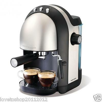 Morphy Richards Accents Brushed Espresso Coffee Maker 172004 RRP £149.99