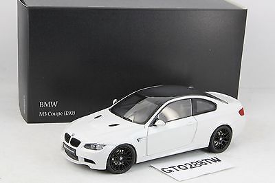 Kyosho 1:18 scale BMW E92 M3 Coupe - Alpine White/Carbon roof (KY08734W) E92M