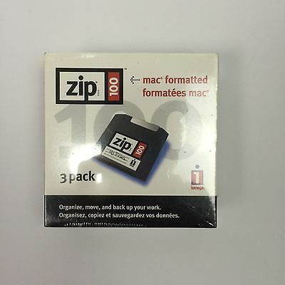 3 Pack Zip Disk Mac Formatted 100 MB