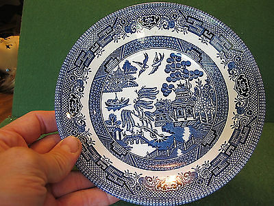 Churchill Blue Willow China  PLATE Staffordshire England Blue and White