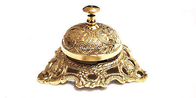 New Brass Antique Vintage Style office Desk Reception Call Bell Decor Service