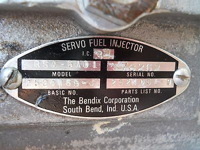 One Bendix RSA-5EDI Fuel Injector Servo AS REMOVED - NO CORE CHARGE!