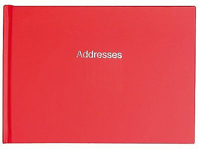Landscape Red Telephone & Address Book - Index Cut Pages - 156 x 212mm