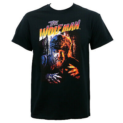 Authentic UNIVERSAL MONSTERS New Wolfman Lon Chaney T-Shirt S-2XL NEW
