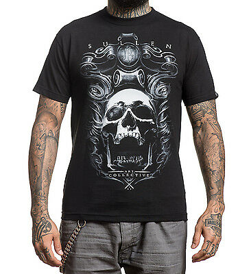 d8ab273d08 Sullen Clothing Jose Perez Tattoo Art Metallic Skull Black Mens T shirt  SCM0122
