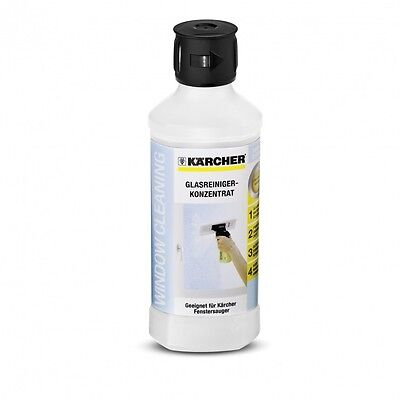 Karcher WV2 500ml Glass Cleaning Concentrate Fluid Soap Wash Window Vac Portable