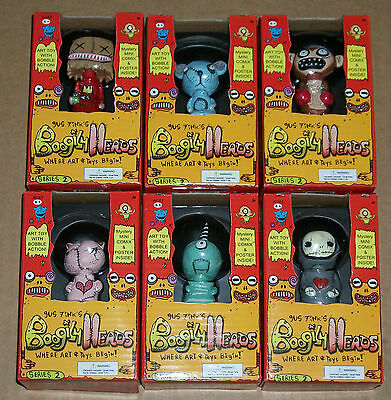 Lot #1 Set of ALL 6 Rocket USA 2007 Gus Fink BOOGILY HEADS Series 2 BOBBLE New