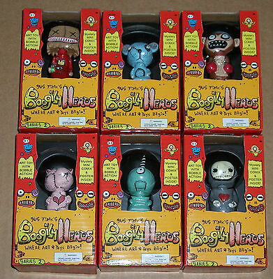 Lot #2 Set of ALL 6 Rocket USA 2007 Gus Fink BOOGILY HEADS Series 2 BOBBLE New