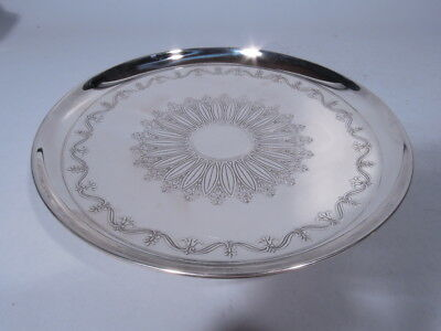 Tiffany Cake Plate - 19341A - Antique Footed Tray - American Sterling Silver
