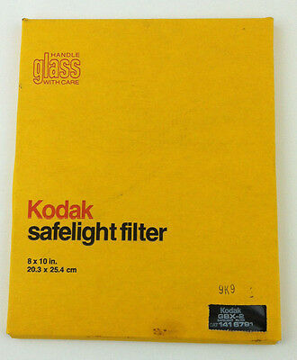 NEW Kodak GBX-2 safelight filter, 8x10 in. CAT 1416791