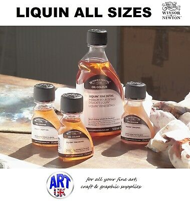 Winsor & Newton LIQUIN Artists Oil Colour Medium original fine detail light gel