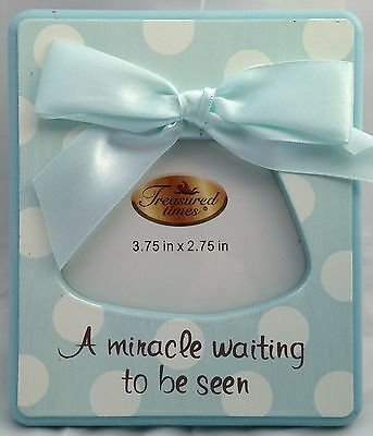 A MIRACLE WAITING TO BE SEEN Boy Sonogram Frame / Ultrasound Frame **NEW**