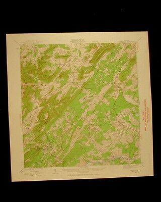 Covesville Virginia vintage 1961 original USGS Topographical chart